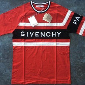 Givenchy men cotton detailed t-shirt
